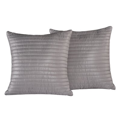 Quilted Decorative Indoor/Outdoor Throw Pillow Color: Pewter