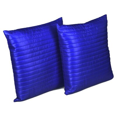 Quilted Decorative Indoor/Outdoor Throw Pillow Color: Electric blue