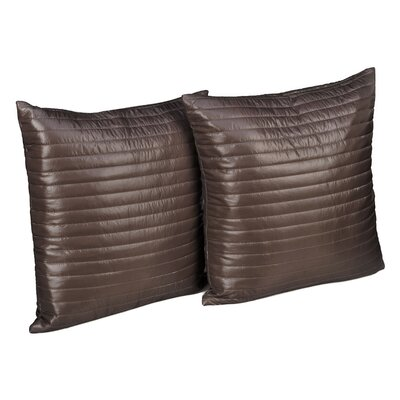 Quilted Decorative Indoor/Outdoor Throw Pillow Color: Taupe