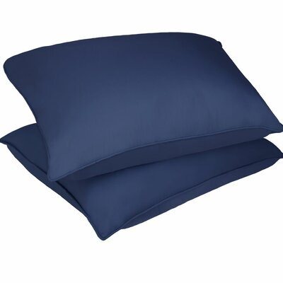 Microfiber Stain and Water Resistant Bed Polyfill Pillow Size: Standard, Color: Smoke Blue