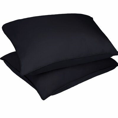 Microfiber Stain and Water Resistant Bed Polyfill Pillow Size: Standard, Color: Black