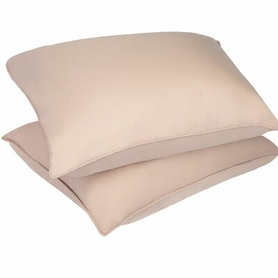 Microfiber Stain and Water Resistant Bed Polyfill Pillow Size: King, Color: Taupe