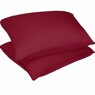 Microfiber Stain and Water Resistant Bed Polyfill Pillow Size: King, Color: Red