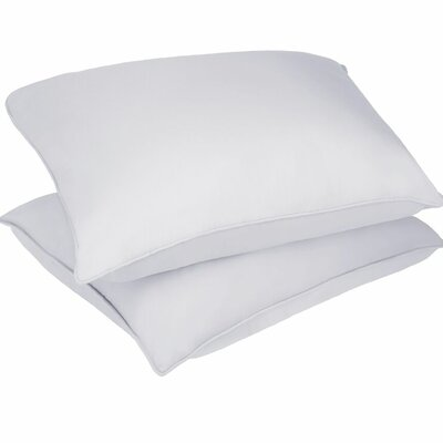 Microfiber Stain and Water Resistant Bed Polyfill Pillow Size: King, Color: White