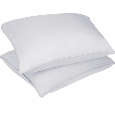 Microfiber Stain and Water Resistant Bed Polyfill Pillow Size: Jumbo
