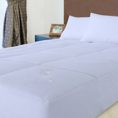 100% Cotton Down Alternative Water and Stain Resistant Mattress Pad Size: King