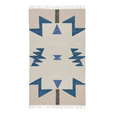 Hand-Loomed Beige Area Rug Rug Size: Rectangle 27 x 47