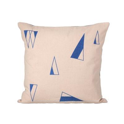 Cone Cotton Throw Pillow Color: Rose