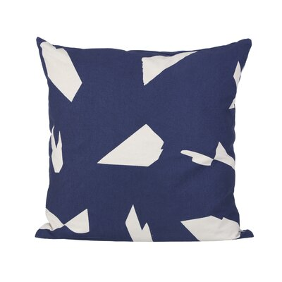 Ferm Living Cut Cotton Lumbar Pillow Color: Dark Blue