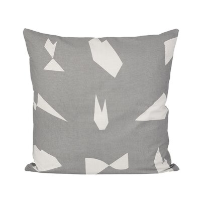Ferm Living Cut Cotton Lumbar Pillow Color: Gray
