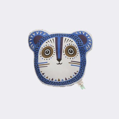 Ferm Living Kids Billy Bear Cotton Pillow Color: Blue