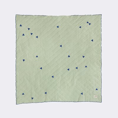 Ferm Living Kids Teepee Quilted Blanket Color: Mint