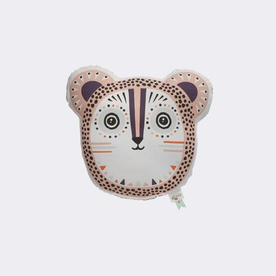 Ferm Living Kids Billy Bear Cotton Pillow Color: Rose