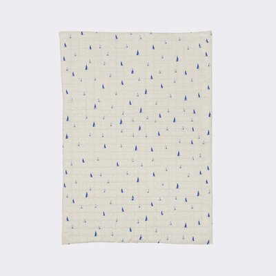 Ferm Living Kids Cone Quilted Cotton Blanket Color: Gray