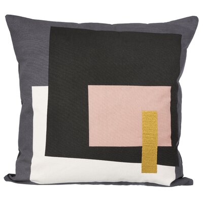 Ferm Living Fragment Cotton Throw Pillow Color: Gray