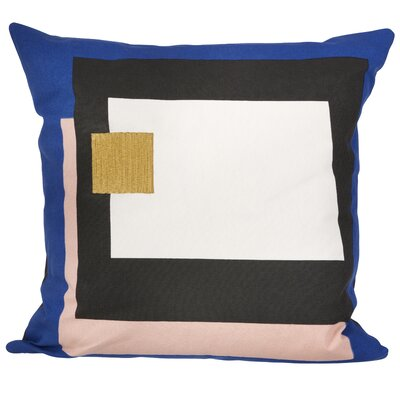 Ferm Living Fragment Cotton Throw Pillow Color: Blue