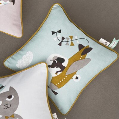Ferm Living Kids Kite Plane Cotton Throw Pillow