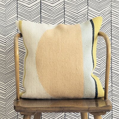 Ferm Living Kelim Semi Circle Wool Throw Pillow