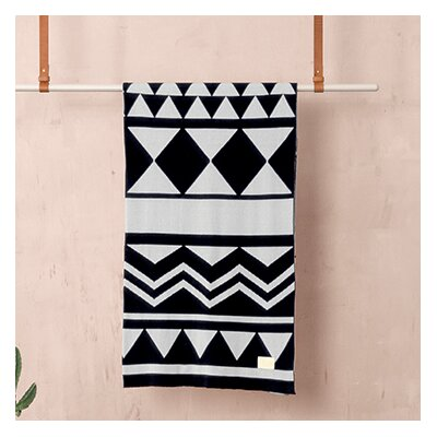 Ferm Living Jacquard Knitted Inka Cotton Blanket