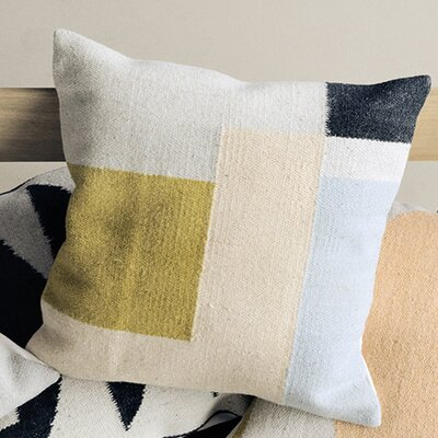 Ferm Living Kelim Square Wool Throw Pillow