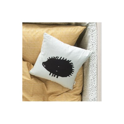 Ferm Living Kids Hedgehog Silhouette Cotton Throw Pillow