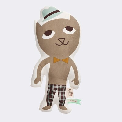 Ferm Living Kids Stuffed Mr. Cat Cotton Pillow
