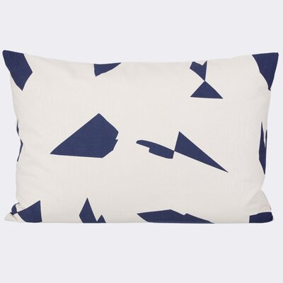 Ferm Living Cut Cotton Lumbar Pillow Color: Off-white