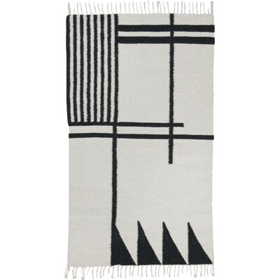 Hand-Loomed Ivory Area Rug Rug Size: Runner 27 x 47