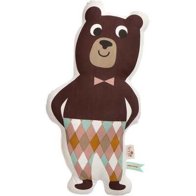 Ferm Living Kids Stuffed Mr. Bear Cotton Pillow