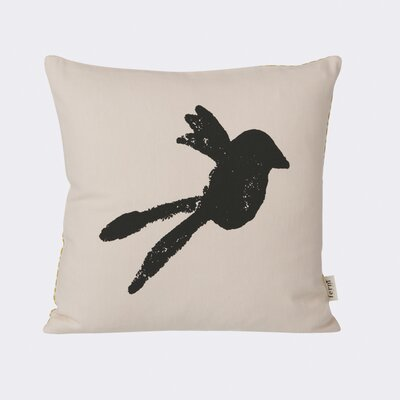 Bird Silhouette Cotton Throw Pillow
