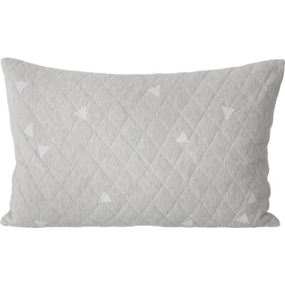 Ferm Living Teepee Quilted Cotton Lumbar Pillow Color: Gray