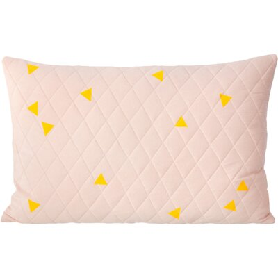 Ferm Living Teepee Quilted Cotton Lumbar Pillow Color: Rose