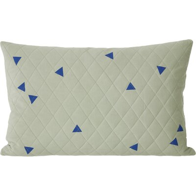 Ferm Living Teepee Quilted Cotton Lumbar Pillow Color: Mint
