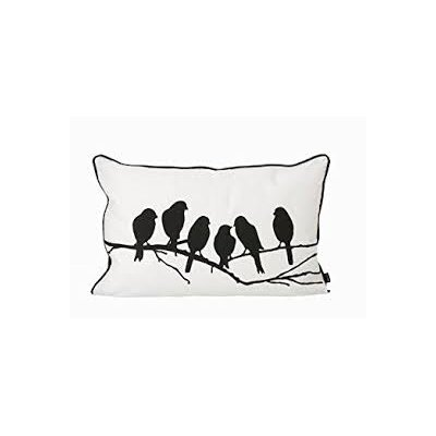 Ferm Living Lovebirds Cotton Lumbar Pillow
