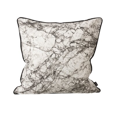 Ferm Living Marble Silk Throw Pillow Color: Gray