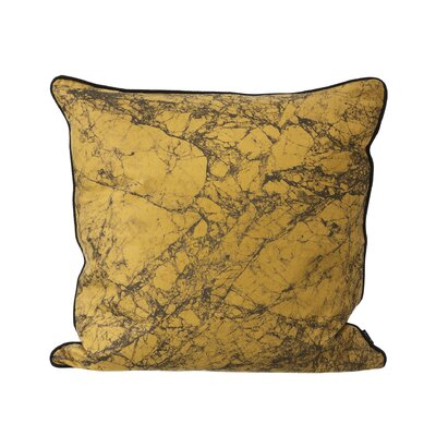 Ferm Living Marble Silk Throw Pillow Color: Curry