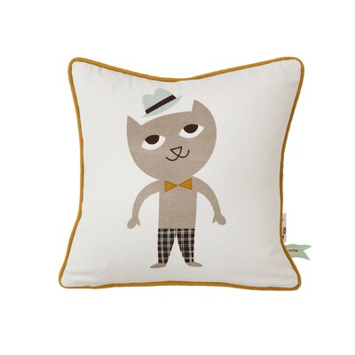 Ferm Living Kids Cat Cotton Throw Pillow