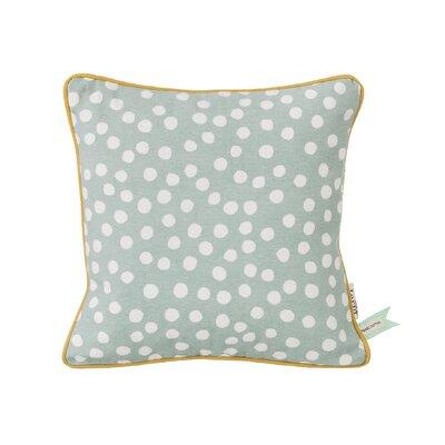 Ferm Living Kids Dots Cotton Throw Pillow Color: Dusty Blue