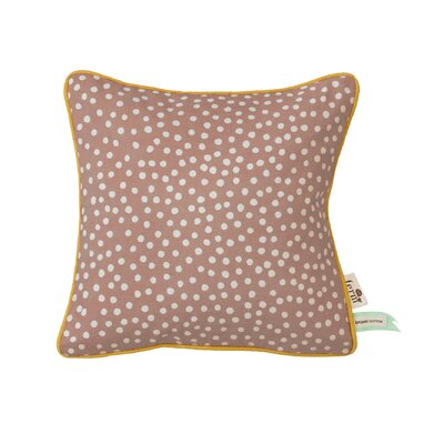 Ferm Living Kids Dots Cotton Throw Pillow Color: Rose