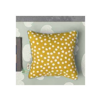 Ferm Living Kids Dots Cotton Throw Pillow Color: Curry