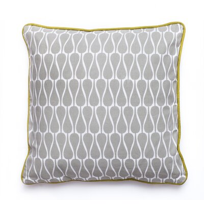 Seeds Cotton Throw Pillow Size: 15.6 x 15.6, Color: Grey, White