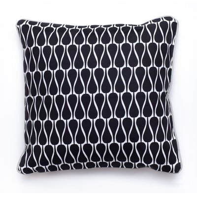 Seeds Cotton Throw Pillow Color: Black, White, Size: 15.6 x 15.6