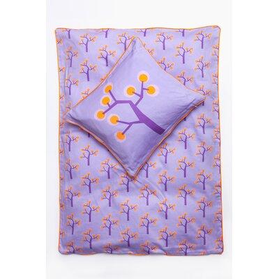 Graphic Tree Junior Comforter Set Color: Purple, Orange