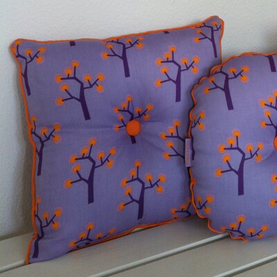 Graphic Tree Kids Cotton Throw Pillow Color: Purple, Orange