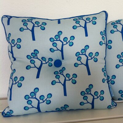 Graphic Tree Kids Cotton Throw Pillow Color: Light Blue, Dark Blue