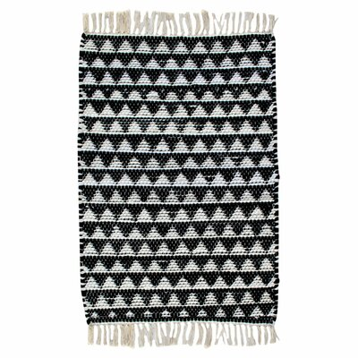 Dakota Hand Woven Cotton Black/White Area Rug Rug Size: Rectangle 2 x 3