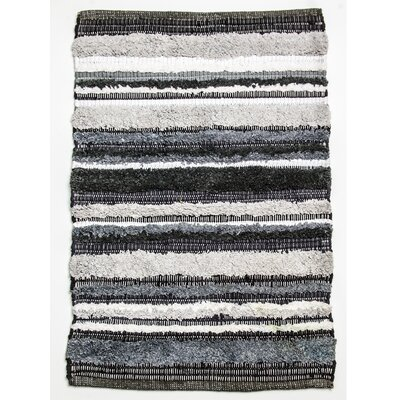 Bossa Nova Hand Woven Cotton Gray Area Rug Rug Size: Runner 24 x 7