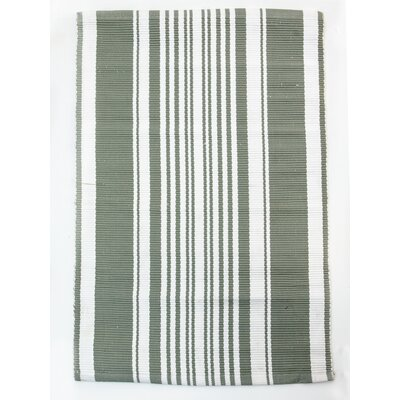 Lexington Hand Woven Cotton Gray/White Area Rug Rug Size: Runner 24 x 7