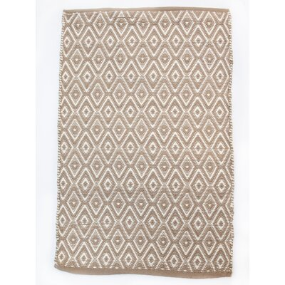 Boston Diamond Beige/White Area Rug Rug Size: Rectangle 26 x 42
