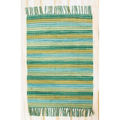 Contempo Sea Green Area Rug Rug Size: 2'6 x 4'2